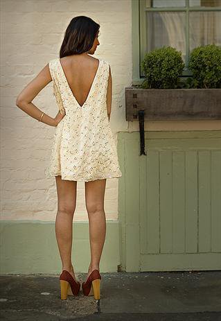 Cream Sequin Shift Dress | pavenrayat | ASOS Marketplace