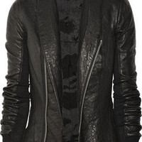 Rick Owens|Fitted leather jacket|NET-A-PORTER.COM