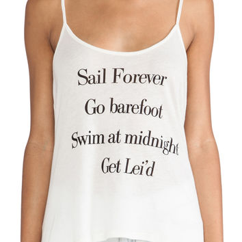 Wildfox Couture Canyon Adventure List Tank in Vintage Lace