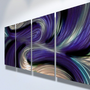 Metal Wall Art Abstract Contemporary Modern Decor Sculpture Echo Purpl | milesshay - Painting on ArtFire