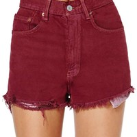 After Party Vintage Rampage Short - Burgundy