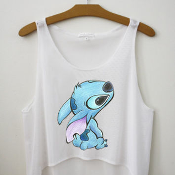 Stitch Inspired Crop Top - Hipster Tops