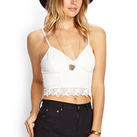 Lace-Trimmed Woven Cami