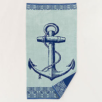 Blue Anchor Beach Towel | Bathroom| Bed & Bath | World Market