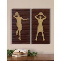 Uttermost Basketball Players Wall Art (Set of 2) - 13730 - Decor