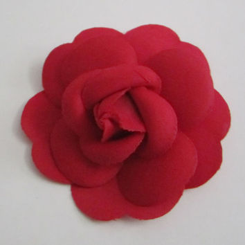 Free Shipping** Authentic CHANEL Red Camellia Flower Sticker / DIY Brooch / Badge / Pin
