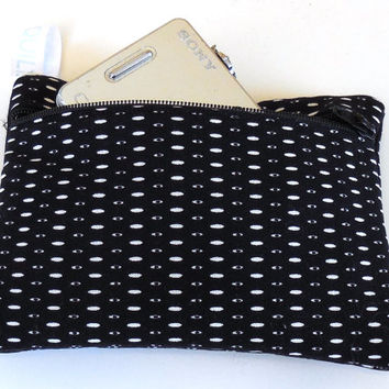 Camera Bag, Black and White, padded, womens accessory, handmade