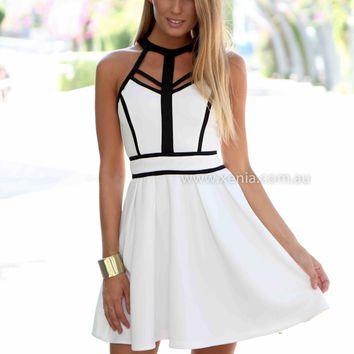 BREEZE DRESS , DRESSES, TOPS, BOTTOMS, JACKETS & JUMPERS, ACCESSORIES, 50% OFF SALE, PRE ORDER, NEW ARRIVALS, PLAYSUIT, COLOUR, GIFT VOUCHER,,White,CUT OUT,SLEEVELESS,MINI Australia, Queensland, Brisbane