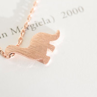 Rose gold dinosaur necklace, minimalist dinosaur pendant, chic and small animal necklace, silver dinosaur necklace, gold necklace