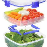 Sistema Klip It 37-Ounce Salad to Go Container, Clear
