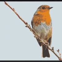 European Robin Cross Stitch Pattern