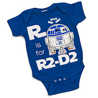 R Is For R2-D2 Bodysuit - Blue,