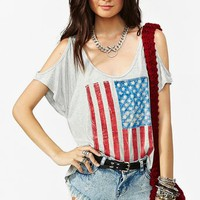 Stars  Bars Cutout Tee in  What's New at Nasty Gal