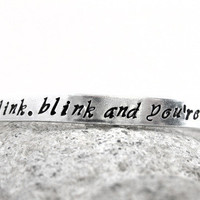 Don&#x27;t Blink. Blink and You&#x27;re Dead. Doctor Who Bracelet | foxwise