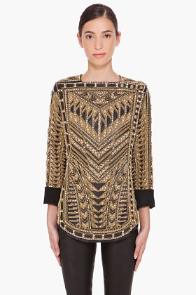 Balmain Handmade Embroidered Runway Blouse for women | SSENSE