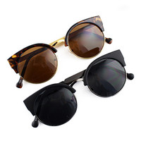 ROMWE Circle Glasses Retro Sunglasses