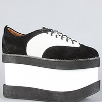Substitute The Jump Up Shoe in Black and Ivory Suede : Karmaloop.com - Global Concrete Culture