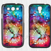 Hakuna Matata Galaxy Samsung Galaxy S3 S4 Case, Universe Galaxy S3 S4 Hard Plastic Rubber Case,cover skin Case for Galaxy S3 S4,More styles