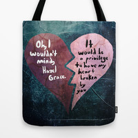 Broken Heart-The Fault in Our Stars Tote Bag by Anthony Londer | Society6