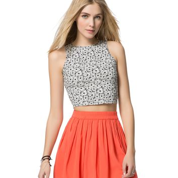 DAISY HIGH-NECK CROPPED TANK