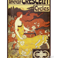 American Crescent Cycles Premium Poster by Alphonse Mucha at Art.com