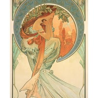 The Arts: Poetry, 1898 Giclee Print by Alphonse Marie Mucha at Art.com