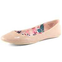 Nude patent floral pumps - View All - New In - Dorothy Perkins