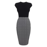 Grid Jacquard Knit Pencil Dress Alexander McQueen | Pencil Dress | Dresses |