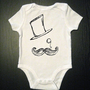 Mustache Monocle and Top Hat Funny Baby by VicariousClothing