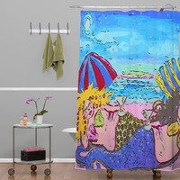 Renie Britenbucher Beached Mermaids Shower Curtain