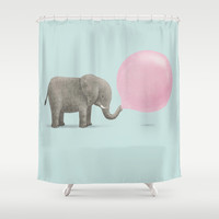 Jumbo Bubble Shower Curtain by Monica Gifford | Society6