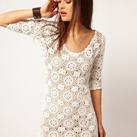 Minkpink | Minkpink &#x27;Little White Lie&#x27; Crochet Dress at ASOS