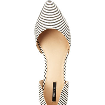 Sleek Striped Flats