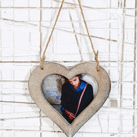 Wooden Heart Frame - Urban Outfitters