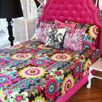 www.roomservicestore.com - Hot Pink Velvet Marrakesh Bed