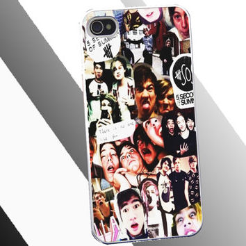 5-Sos-Collage Cover for Iphone 4/4s/5/5s/5c, Ipod4/5/nano7, samsung s2/s3/s4/note/ace, htc one/one x