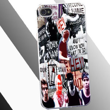 5-Second-of-Summer-Collage Cover for Iphone 4/4s/5/5s/5c, Ipod4/5/nano7, samsung s2/s3/s4/note/ace, htc one/one x