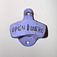 "Pretty Purple ""OPEN HERE'' Bottle Opener by AquaXpressions"