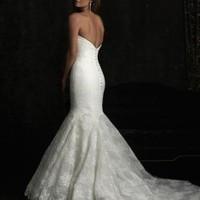 Allure Bridals 8970 Lace Mermaid Wedding Dress