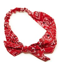 's Bandana Printed Headwrap (Red)