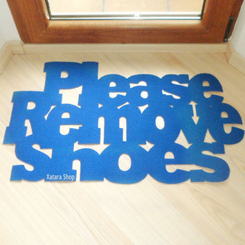 Please remove shoes floor mat. Custom doormat. Exclusive design.