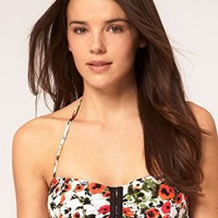 Seafolly | Seafolly Tea Rose Bandeau Bikini Top at ASOS