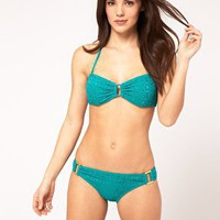 ASOS Crochet Rectangle Bandeau Bikini at ASOS