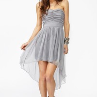 Tallulah Chiffon Dress - Silver in  Clothes Dresses Party at Nasty Gal