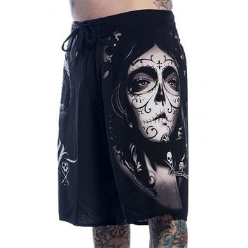 "Men's ""My Love"" Boardshorts by Sullen Clothing (Black)"