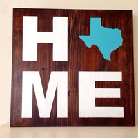 Customizable Home State Wood Sign, Stained and Hand Painted, moving gift, wedding gift, birthday, graduation, home decor, anniversary gift