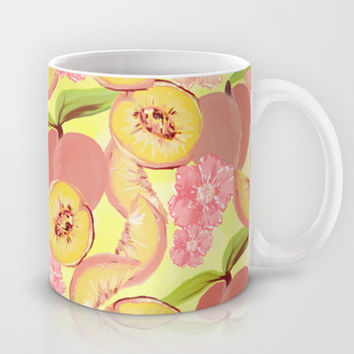 Peaches Mug by Lisa Argyropoulos | Society6