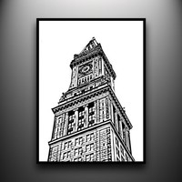 Custom House 18x24 HandCut Paper Art framed and by papercutsbyjoe