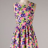Geometry Dress - Pink - Hazel & Olive