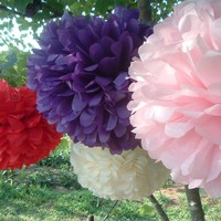 Party Decorations. 3 Tissue Paper Pom Poms. Choose Your Colors | Luulla